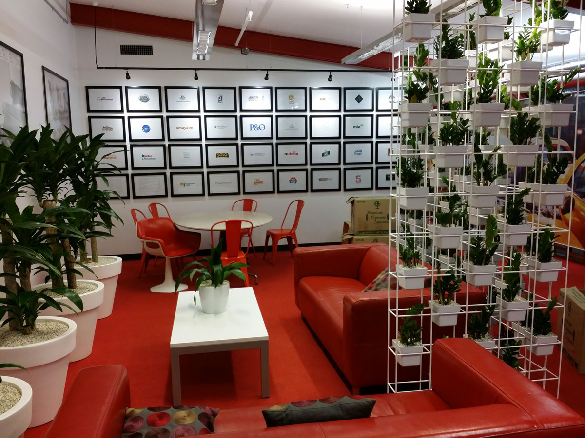 VERTICAL GARDEN AT AEGIS MEDIA