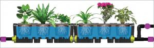 The Verti-gan modular roof garden system uses substantially less water than the traditional above ground spray system