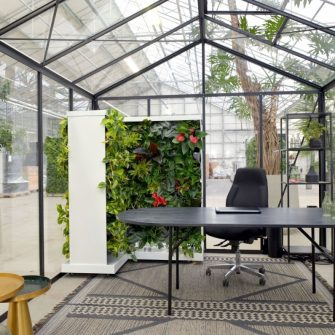 Mobile greenwalls absorb excessive sound